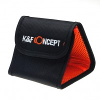 K&F Concept 3 Pocket Case Nylon Filter Wallet