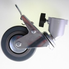 3 wheels with Brakes for 22mm stand legs