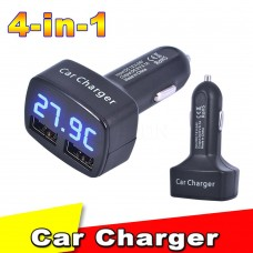 4 In 1 Dual USB Car Charger Adapter