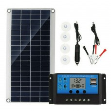 Solar 20W Sunpower Panel Battery Charger Kit +10A 18V Controller
