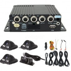 2544 Car 4CH DVR Camera Security Video Recorder Rear View Kit