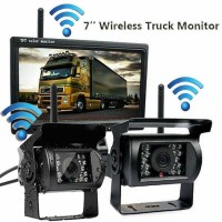 "7"" Monitor 2 x Wireless Rear View Backup Camera For Truck"