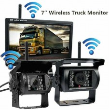 """7"""" Monitor 2 x Wireless Rear View Backup Camera For Truck"""