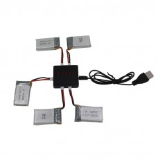5x Battery Charger for Syma X5SC X5SW Quadcopter Drone
