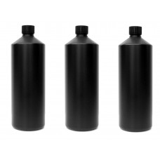 3x Darkroom Chemical Storage Bottles