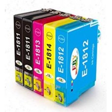 1987 5 Ink Cartridges E-1814, E-1813, E-1812, E-1811 for Epson Expression  XP-202 XP-30 XP-322 XP-412