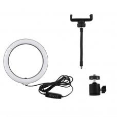 "29412 10"" LED Selfie Ring Light Dimmable Lighting Kit Phone Stand"