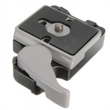 Camera Quick Release Clamp Adapter Plus QR Plate for Manfrotto Tripod