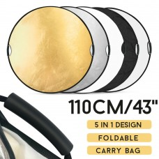 "110cm 43"" 5-in-1 Collapsible Studio Light Reflector"