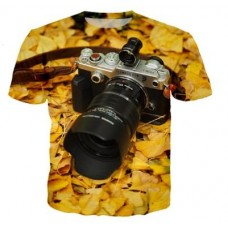 T-shirt 3D Camera Yellow Olympus PEN-F Print