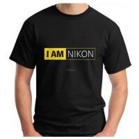 T-shirt 3D Camera Black I am Nikon Print