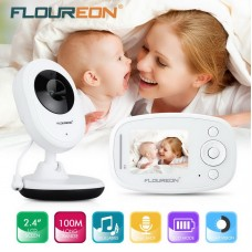 Wireless Baby Monitor LCD Video Security Camera Temperature Display 2 Way Talk