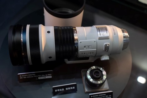 CP+ 2019: Olympus shows super-tele zoom and 2.0 TC under glass